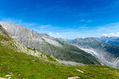 Green landscape in the alps — Stock Photo
