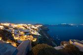 Oia on Santorini island at night — Stock Photo