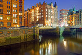 Historic warehouses in Hamburg — Stock Photo