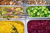 Salad ingredients at a buffet — Stock Photo