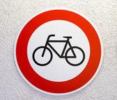 No cycling sign — Stock Photo