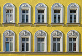 Facade of a restored building — Stock Photo