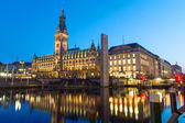 Hamburgs beautiful townhall — Stock Photo
