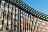 Historic building facade in Hamburg — Stock Photo