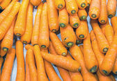 Carrots for sale — Stock Photo