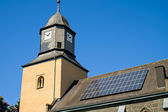 Church with solar panels — Stock Photo
