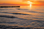 Sunset at the Baltic Sea — Stock Photo