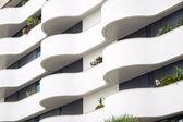 Building facade with balconies — Stock Photo