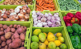 Different vegetables and fruits — Stock Photo