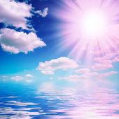 Slunce a mraky — Stock fotografie