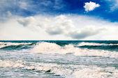 Storm in sea — Stock Photo
