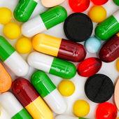 Pills on a white background — Stock Photo