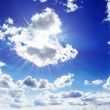 Sun on blue sky — Stock Photo #21587893