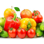 Composition of fruits and vegetables — Stock Photo