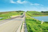 Highway in hilly terrain — Stock Photo