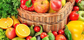 Fruit and vegetables background   — Stock Photo
