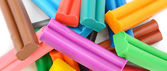 Colorful plasticine background — Stock Photo
