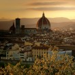 Golden spring sunset over Florence  — Stock Photo