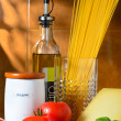 Spaghetti and tomatoes still-life — Stock Photo #12032221