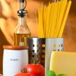 Spaghetti and tomatoes still-life — Stock Photo