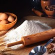 Royalty-Free Stock Photo: Flour and ingredients