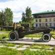 Soviet artillery gun — Stock Photo