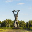 Monument to defenders of Omsk — Stock Photo