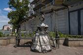 Sculpture Lyubasha symbol Omsk — Stock Photo