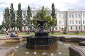 Fontanna w Omsku — Zdjęcie stockowe