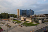 Square in Moscow Vnukovo Airport — Stock Photo