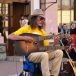 Stock Photo: Street performers and musicians