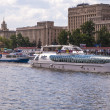 Pleasure boat on the Moscow River - Stockfoto