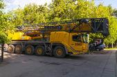 Vrachtwagen kraan — Stockfoto