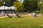 Rest in city park — Stok fotoğraf