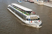 Pleasure boat on the Moscow River — Stock Photo