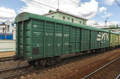 Russian Boxcar for livestock — Stock Photo