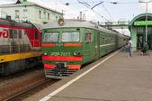 Russian commuter train — Stock Photo