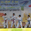 Performance taekwondo fighters — Stock Photo