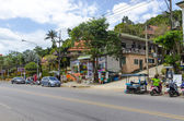 Streets and houses in the town of Ao Nang — Stock Photo