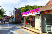 Neighborhood cafes and shops in the resort town of Thailand Ao Nang Krabi — Stock Photo