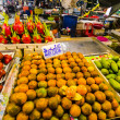 Fruit on the counter of the fruit market in Krabi Town Thailand — Stockfoto