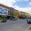 Streets cafes and shops in the town of Ao Nang Thailand — Stock Photo
