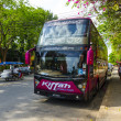 Tourist bus on the spot Thai resort city — Stock Photo