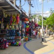 Cafes and souvenir shops for tourists in Krabi. Thailand — Stockfoto #22076691