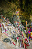Sanctuary lingams phallic worship in the Cave Pranang Thailand — Stock Photo