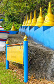 Trappor till backen i kloster grottor buddistskolm tiger, krabi, thailand — Stockfoto