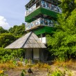Royalty-Free Stock Photo: The observation tower with balconies in the jungle.