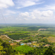 Top view of the plains, fields and mountains of the southern provinces of Thailand — ストック写真