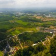 Top view of the plains, fields and mountains of the southern provinces of Thailand — Stock Photo