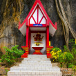 Beautiful altar in a Buddhist monastery in Thailand — Stock Photo
